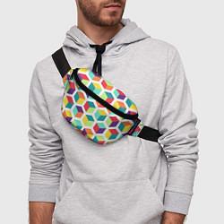 Поясная сумка 3D кубы цвета 3D — фото 2