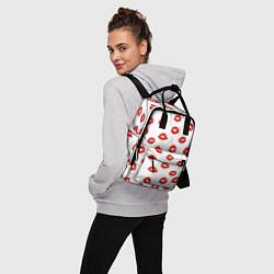 Рюкзак женский Поцелуйчики цвета 3D-принт — фото 2