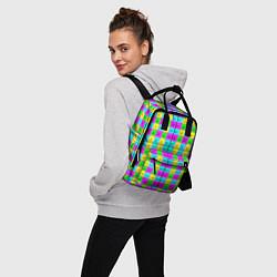 Рюкзак женский Тестовый яркий цвета 3D-принт — фото 2