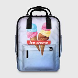 Рюкзак женский Ice Creme цвета 3D-принт — фото 1