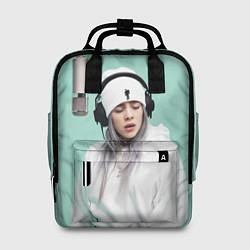 Женский городской рюкзак с принтом BILLIE EILISH, цвет: 3D, артикул: 10201691505839 — фото 1