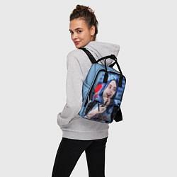 Женский городской рюкзак с принтом BILLIE EILISH, цвет: 3D, артикул: 10201693705839 — фото 2