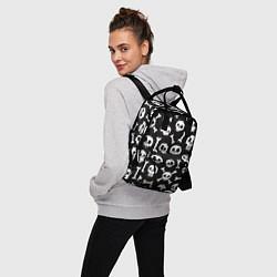 Рюкзак женский Черепушки цвета 3D — фото 2