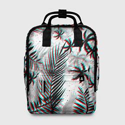 Рюкзак женский ПАЛЬМЫ TROPICAL GLITCH цвета 3D-принт — фото 1