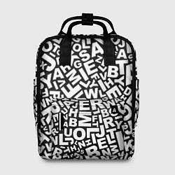 Рюкзак женский Английский алфавит цвета 3D-принт — фото 1