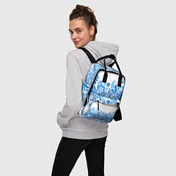 Рюкзак женский Гжель цвета 3D — фото 2