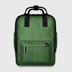 Рюкзак женский Змеиная зеленая кожа цвета 3D — фото 1