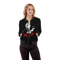 Бомбер женский АлисА цвета 3D-черный — фото 2