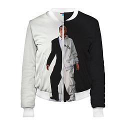 Женский бомбер Eminem: Black & White