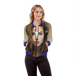 Бомбер женский Анжелина Джоли цвета 3D-синий — фото 2