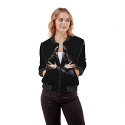 Бомбер женский Фредди Меркьюри цвета 3D-черный — фото 2