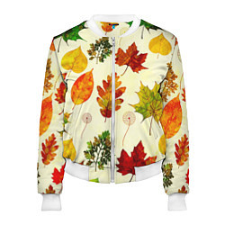 Бомбер женский Осень цвета 3D-белый — фото 1