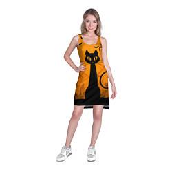 Туника женская Halloween Cat цвета 3D-принт — фото 2