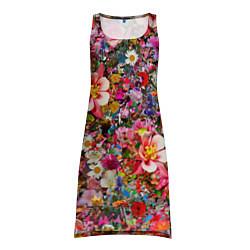 Туника женская Разные цветы цвета 3D — фото 1