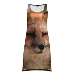 Туника женская Строгая лисица цвета 3D — фото 1
