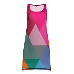 Туника женская Разноцветные полигоны цвета 3D — фото 1