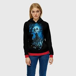 Толстовка-худи женская Zombie Island цвета 3D-красный — фото 2
