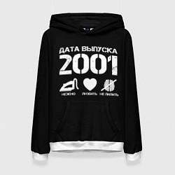 Толстовка-худи женская Дата выпуска 2001 цвета 3D-белый — фото 1