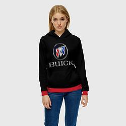 Толстовка-худи женская Buick цвета 3D-красный — фото 2