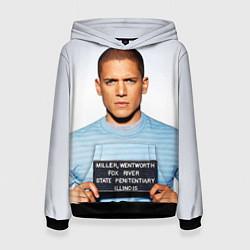 Толстовка-худи женская Prison Break: Michael Scofield цвета 3D-черный — фото 1