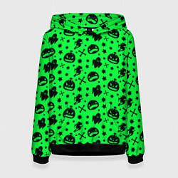 Толстовка-худи женская Хэллоуин кислота цвета 3D-черный — фото 1