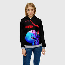 Толстовка-худи женская The Strain: Monster цвета 3D-меланж — фото 2