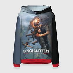 Толстовка-худи женская Uncharted: The Lost Legacy цвета 3D-красный — фото 1