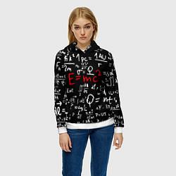 Толстовка-худи женская E=mc2: Black Style цвета 3D-белый — фото 2