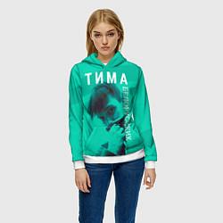 Толстовка-худи женская Тима Белорусских цвета 3D-белый — фото 2