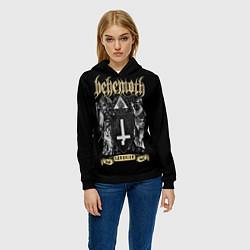 Толстовка-худи женская Behemoth: Satanist цвета 3D-черный — фото 2