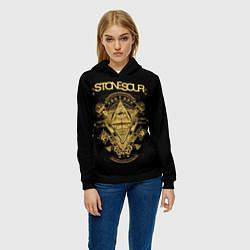 Толстовка-худи женская Stone Sour цвета 3D-черный — фото 2