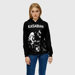 Толстовка-худи женская Kasabian Rock цвета 3D-черный — фото 2