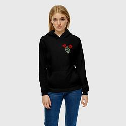 Толстовка-худи женская Payton Moormeie цвета 3D-черный — фото 2