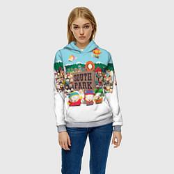 Толстовка-худи женская Южный Парк цвета 3D-меланж — фото 2