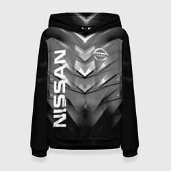 Толстовка-худи женская NISSAN цвета 3D-черный — фото 1