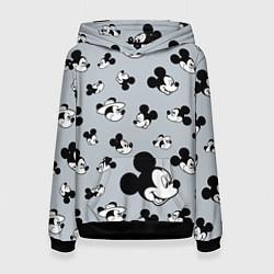 Толстовка-худи женская Микки Маус цвета 3D-черный — фото 1
