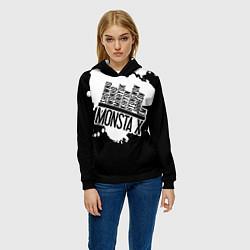 Толстовка-худи женская Monsta X цвета 3D-черный — фото 2