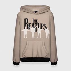 Толстовка-худи женская The Beatles цвета 3D-черный — фото 1