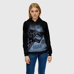 Толстовка-худи женская Stark House GoT цвета 3D-черный — фото 2