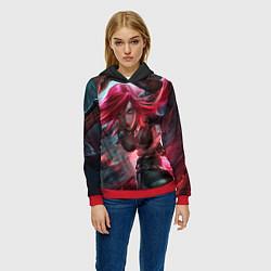 Толстовка-худи женская League of legends цвета 3D-красный — фото 2