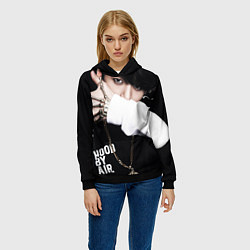 Толстовка-худи женская BTS: Hood by air цвета 3D-черный — фото 2