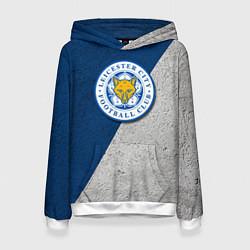Толстовка-худи женская Leicester City FC цвета 3D-белый — фото 1