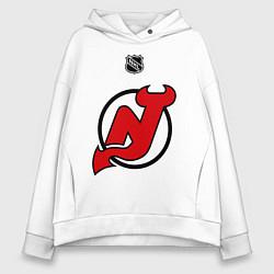 Толстовка оверсайз женская New Jersey Devils: Kovalchuk 17 цвета белый — фото 1