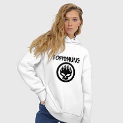 Толстовка оверсайз женская The Offspring цвета белый — фото 2