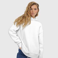 Толстовка оверсайз женская Salah 11 цвета белый — фото 2