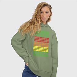 Толстовка оверсайз женская Armin van Buuren: EQ цвета авокадо — фото 2