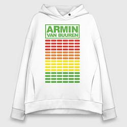 Толстовка оверсайз женская Armin van Buuren: EQ цвета белый — фото 1