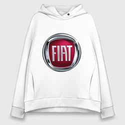 Толстовка оверсайз женская FIAT logo цвета белый — фото 1