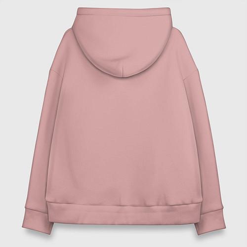Женское худи оверсайз Со мной сложно / Пыльно-розовый – фото 2