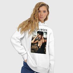 Толстовка оверсайз женская Monica Bellucci: Dress цвета белый — фото 2